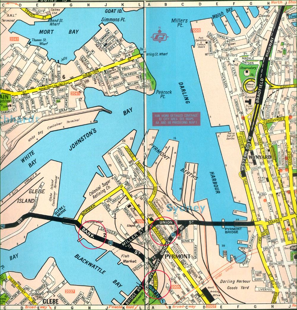 Map Newtown area Sydney Australia – Map Australia Sydney